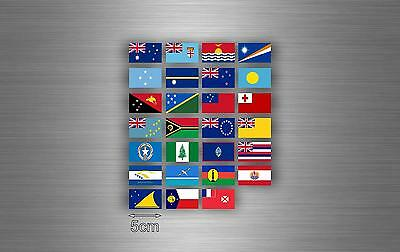 £3.89 • Buy Set 27x Sticker Oceania Flag Scrapbooking Country Collection Stamp National R2