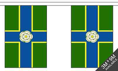 North Riding Of Yorkshire British County 3 Metre Long, 10 Flag Bunting • 8.99£