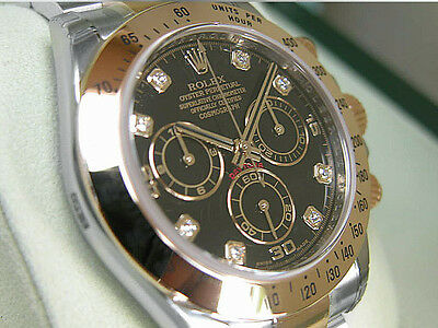 $ CDN29032.89 • Buy Rolex Daytona 116523 Mens Two Tone Steel & Yellow Gold Black Diamond Dial 40mm