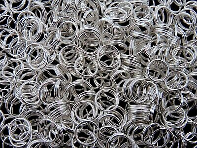 £1.99 • Buy 8mm Silver Plated Jewellery Split Rings Findings Craft Connector Beading ML