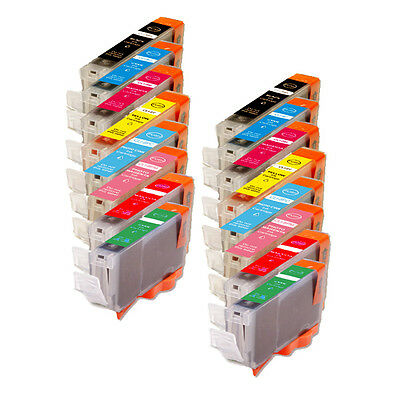 £12.15 • Buy 16PK Combo Printer Ink With R & G For Canon CLI-8 Pro9000 Mark II