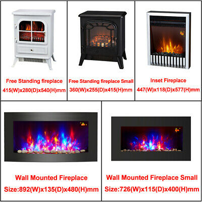 Modern Electric Fireplace Heater Fire Place Flame Effect Stove Living Room • 79.95£