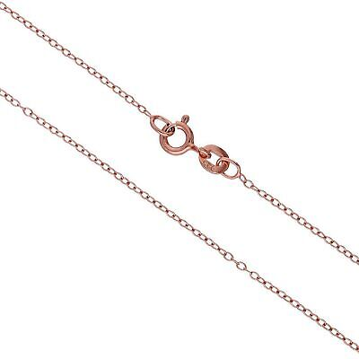 Real 925 Rose Gold Plated Sterling Silver Trace Chain 14 16 18 20 22 Inches • 4.85£