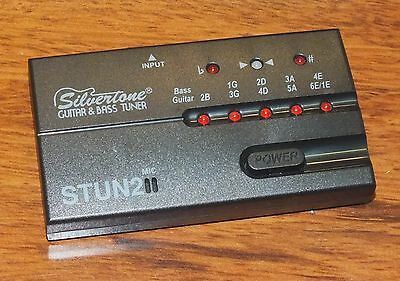 $ CDN10.24 • Buy *FOR PARTS / NOT WORKING* Silvertone (STUN2) Plastic Guitar & Bass Tuner *READ*
