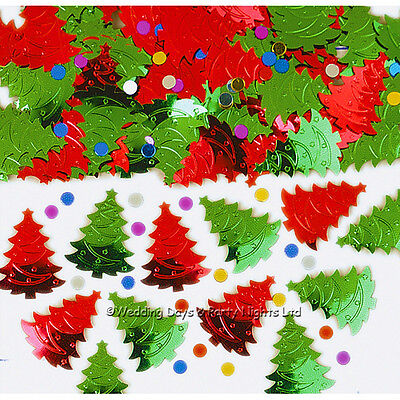 £1.59 • Buy Red + Green Christmas Tree Table Confetti Party Decorations Sprinkles Card Craft