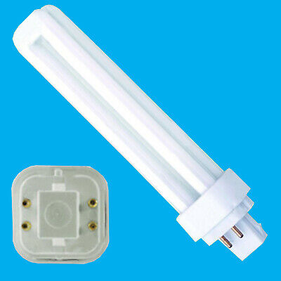 6x 13W G24q-1, 4 Pin, Low Energy CFL BLD Double Turn Light Bulb Cool White Lamps • 11.99£