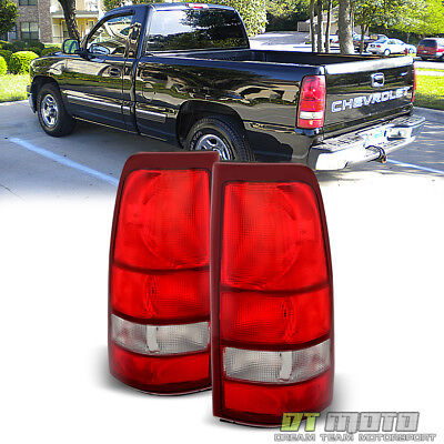 $84.99 • Buy 1999-2002 Chevy Silverado 1500 99-06 GMC Sierra Red Tail Lights Lamps Left+Right