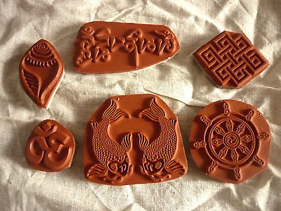 Buddhist Rubber Stamps - Backed With Cling Foam • 3£