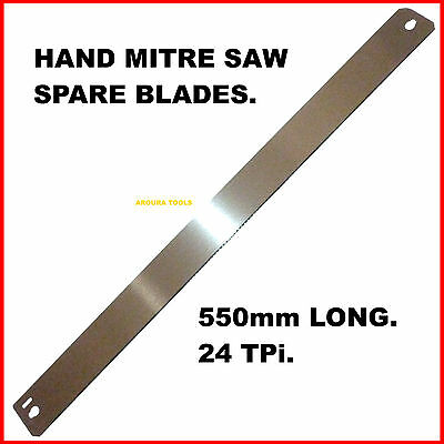 AU13.50 • Buy HAND MITRE SAW SPARE BLADES- 550mm LONG - 24TPI - BRAND NEW.