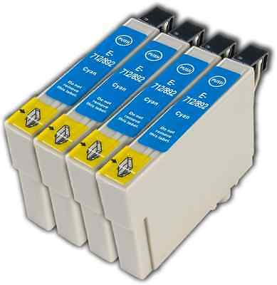 £5.45 • Buy 4 Cyan T0712 Non-OEM Ink Cartridge For Epson Stylus DX7450 DX8400 DX8450 DX9400