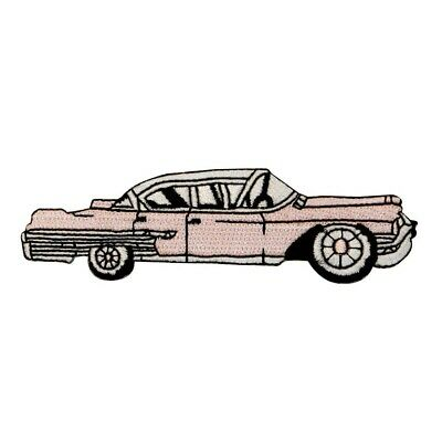 ID 0131 Pink Cadillac Car Patch Retro 50s Classic Embroidered Iron On Applique • 5.99$