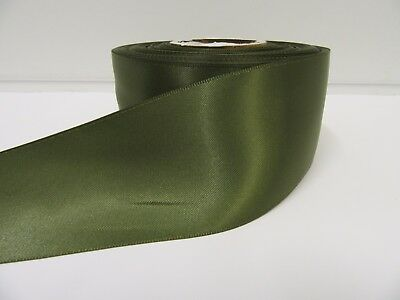 £1.50 • Buy 3mm 7mm 10mm 15mm 25mm 38mm 50mm OLIVE DARK GREEN Satin Ribbon Double Roll Bows