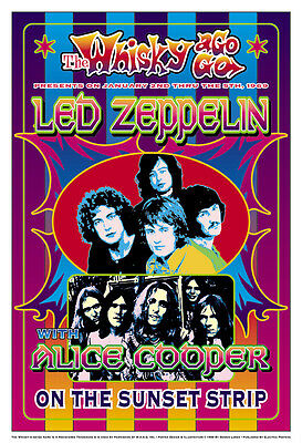 $12 • Buy  Led Zeppelin At The Whisky A Go Go Concert Poster 1969   13 3/4 X 19 3/4