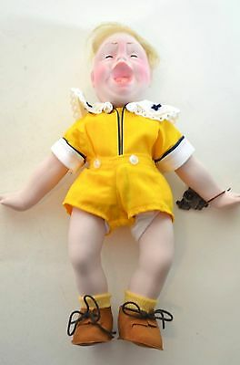 $14.99 • Buy Norman Rockwell Jr. Porcelain Character Doll Rumbleseat Handcrafted Germany NEW