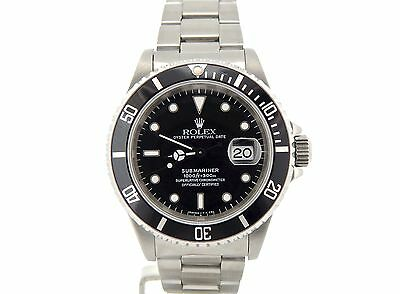 $ CDN10551.40 • Buy Rolex Submariner Stainless Steel Watch Black Dial & Bezel Date Sub Oyster 16610