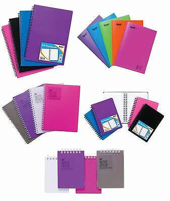 £1.89 • Buy NOTEBOOK - A7/A6/A5/A4 - Plastic PP Covers - Ruled Paper - TwinWire Ringed