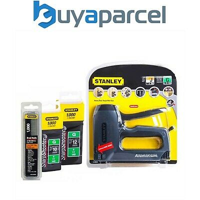 Stanley Stapler & Nail Gun Complete With 2000 Staples And 1000 Brads 0-TR250 • 32.95£
