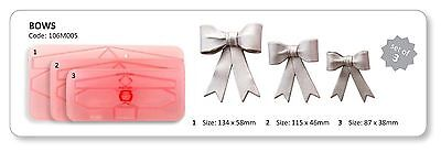 Jem Small Bows Sugarcraft Cutters Set Cake Decorating Cupcakes NEXT DAY DESPATCH • 7£