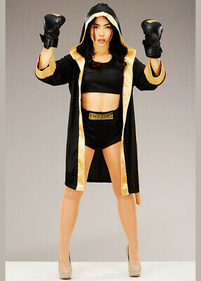 £43.49 • Buy Womens Black And Gold Cute Boxer Costume