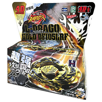 $7.69 • Buy L Drago Gold DF105LRF Beyblade Armor Ldrago Destroy Destructor 4d WITH LAUNCHER!