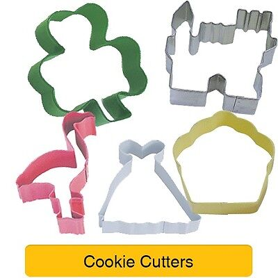 Shaped COOKIE CUTTERS - Animal Themes - Baking Cake Biscuit Sandwich Toast • 2.49£