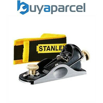 Stanley STA512060 60 1/2 Inch Fully Adjustable Block Plane And Pouch 5-12-060 • 54.65£