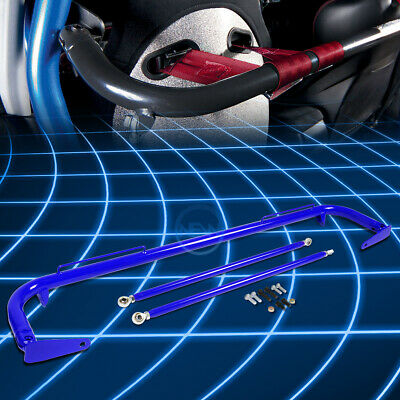 $96.99 • Buy 49 Universal Racing Seat Belt Harness Bar Adjustable Chassis Support Rod Blue