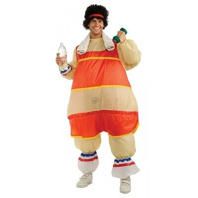 AU34.95 • Buy 80s Workout Costume Adult Inflatable Richard Simmons Halloween Fancy Dress