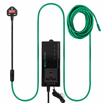 Soil Warming Cable Heating Thermostat Heated Beds Propagator Greenhouse • 37.99£