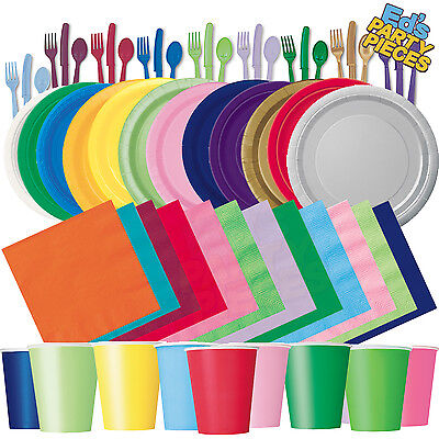 £2.75 • Buy Plain Solid Colours PARTY TABLEWARE  Birthday/Events/Catering/Wedding/Occasion