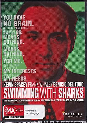 AU10.95 • Buy SWIMMING WITH SHARKS -  Kevin Spacey, Frank Whaley, Michelle Forbes   - DVD