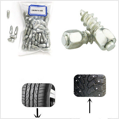 $ CDN24.84 • Buy 100in1 Steel Body With Carbide Tips 9mm Car Wheel Tyre Snow Chains Non-slip Stud