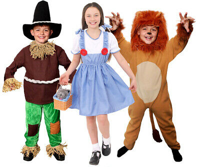 Childs Fairytale Costumes Dorothy Lion Scarecrow School Book Day Fancy Dress • 16.99£
