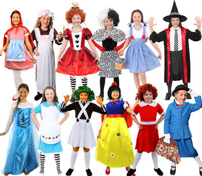 £15.99 • Buy Girls Book Character Costumes Fairytale World Book Day Childs Fancy Dress Outfit