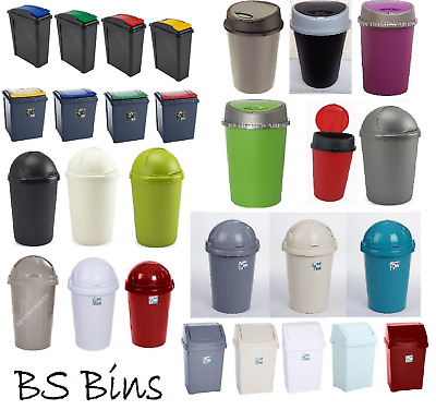 £14.49 • Buy New Plastic Swing Bullet Recycle Recycling Touch Top Bin Waste Dustbin Large Lid