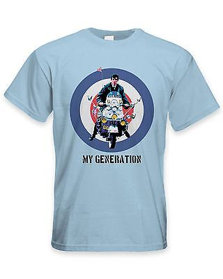 My Generation Mod Scooter Men's T-Shirt - Jam Fashion The Who Quadrophenia • 11.99£