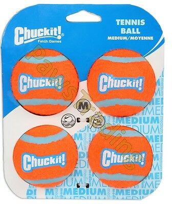Chuckit Dog Puppy Tennis Ball Thick Bouncing Floating Toy Medium Standard Size • 7.99£