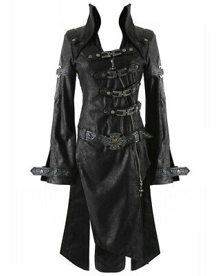 Punk Rave Black Shadow Jacket Mens Goth Steampunk Faux Leather Coat • 79.99£