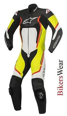 $718.62 • Buy New Alpinestars Motegi V2 Leather 1PC One Piece Motorcycle Race Suit Fluo/yellow