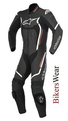 $633.69 • Buy New Alpinestars Motegi V2 Leather 1PC One Piece Motorcycle Race Suit Black/Red