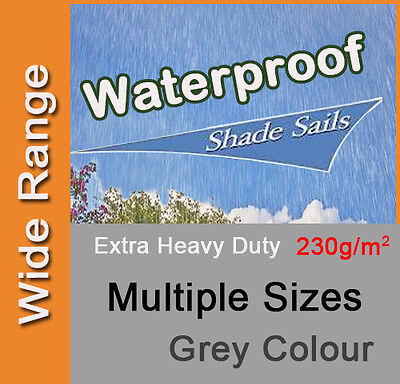 AU72.90 • Buy Heavy Duty Waterproof Water Proof Shade Sail Grey Gray Triangle Square Rectangle