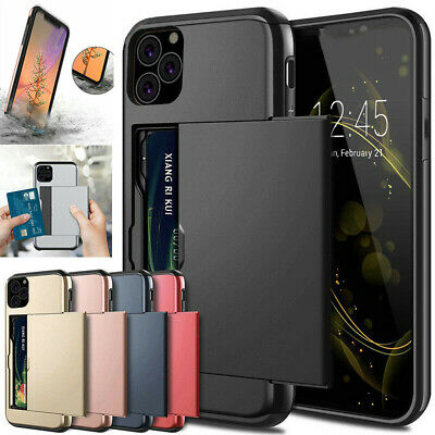 AU5.99 • Buy Slim Armor Slide Card Slot Wallet Hybrid Hard Case Cover For IPhone Samsung