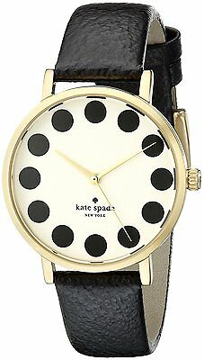 $ CDN93.93 • Buy Kate Spade Metro Cream Dial Gold Tone Black Leather Women's Watch 1YRU0107 SD