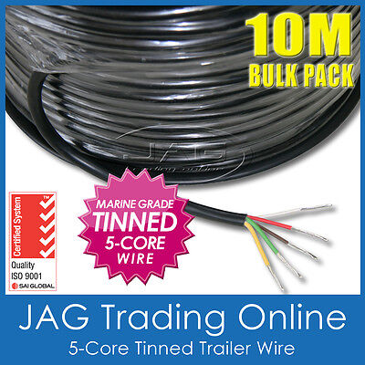 AU55.73 • Buy 10M X 5-CORE MARINE GRADE TINNED WIRE - AUTOMOTIVE/TRAILER/BOAT/ELECTRICAL CABLE