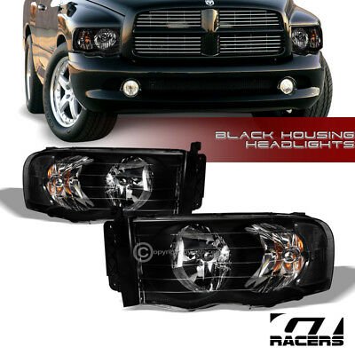 $93 • Buy For 2002-2005 Dodge Ram 1500/2500 Black Housing Headlights Corner Signal Lamp Nb
