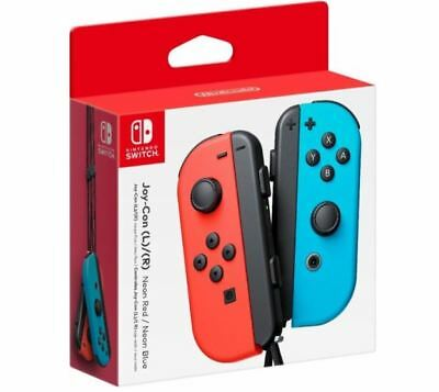 $74.99 • Buy Genuine Nintendo Switch - Joy-Con (R) (L) Wireless Controller Neon Red/Blue