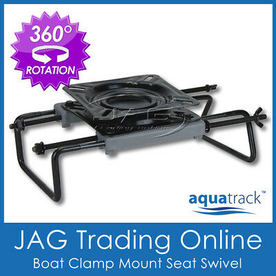 $ CDN45.27 • Buy AQUATRACK CLAMP-ON BOAT SEAT SWIVEL MOUNT BASE ADJUSTABLE For Tinnie Bench Seats