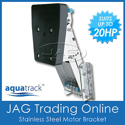 AU149.95 • Buy Heavy Duty Stainless Steel Outboard Auxiliary Motor Bracket Suits 7.5 Hp - 20 Hp