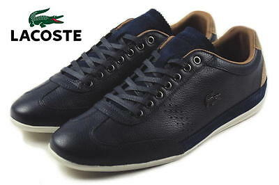 Lacoste Men's Misano 34 Navy Leather Sneakers Shoes • 100.13£