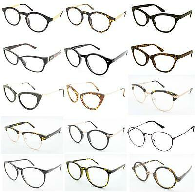 Geek Nerd Clear Lenses Glasses Optical Frames Fancy Dress Fashion Spectacles • 3.55£